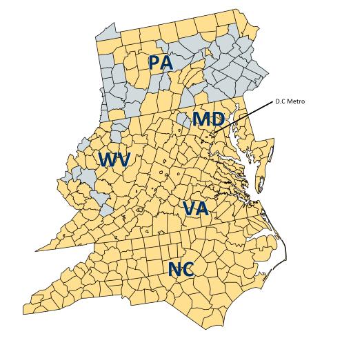 SBA 504 Lending in PA, MD, VA, NC