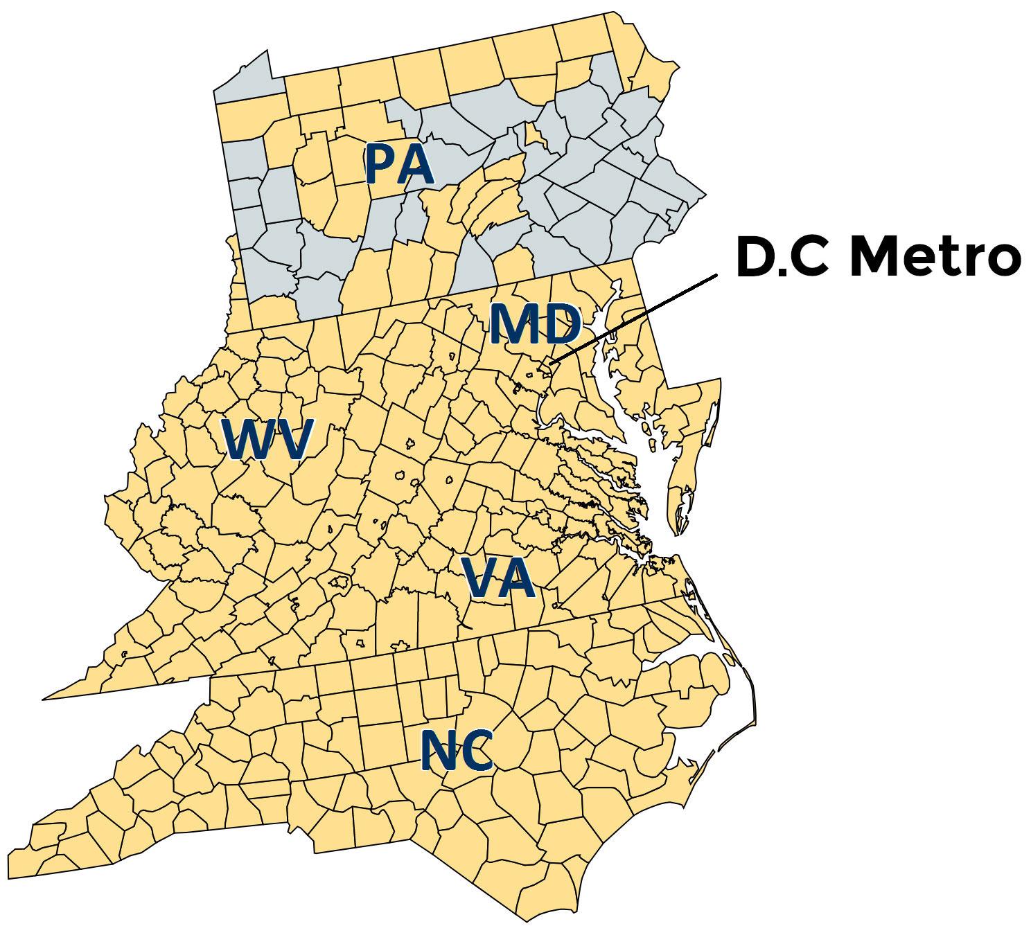 504 Capital SBA CDC Target Region